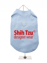''Shih Tzu Designer Wear'' Harness-Lined Dog T-Shirt