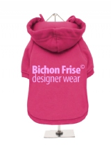 ''Bichon Frise Designer Wear'' Fleece-Lined Dog Hoodie / Sweatshirt