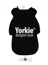 ''Yorkie Designer Wear'' Fleece-Lined Dog Hoodie / Sweatshirt