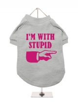 ''Im With Stupid'' Dog T-Shirt