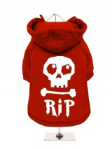 ''Halloween: Skull R.I.P.'' Fleece-Lined Dog Hoodie / Sweatshirt