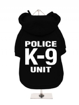''Police K-9 Unit'' Fleece-Lined Dog Hoodie / Sweatshirt