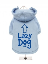 ''Lazy Dog'' Fleece-Lined Dog Hoodie / Sweatshirt