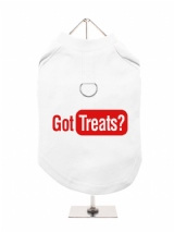 ''Got Treats?'' Harness-Lined Dog T-Shirt