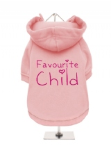 ''Favourite Child'' Fleece-Lined Dog Hoodie / Sweatshirt