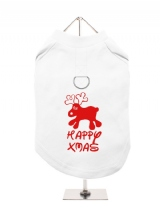 ''Christmas: Happy Xmas'' Harness-Lined Dog T-Shirt