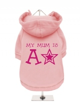 ''Mothers Day: My Mum is a Star'' Fleece-Lined Dog Hoodie / Sweatshirt