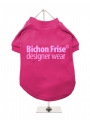 ''Bichon Frise Designer Wear'' Dog T-Shirt