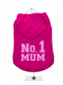 ''Mothers Day: No. 1 Mum'' Dog Hoodie