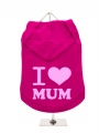 ''Mothers Day: I Love Mum'' Dog Hoodie
