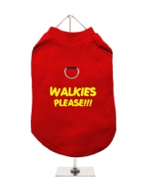 WALKIES | PLEASE!!! - Harness-Lined Dog T-Shirt