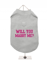 WILL YOU | MARRY ME? - Harness-Lined Dog T-Shirt