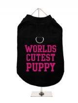 WORLDS | CUTEST | PUPPY - Harness-Lined Dog T-Shirt