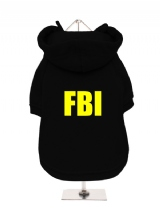 FBI - Fleece-Lined Dog Hoodie / Sweatshirt