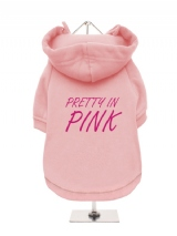 PRETTY IN | PINK - Fleece-Lined Dog Hoodie / Sweatshirt
