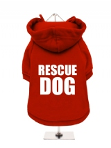 ++++ | RESCUE | DOG - Fleece-Lined Dog Hoodie / Sweatshirt
