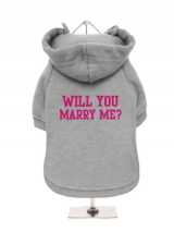 WILL YOU | MARRY ME? - Fleece-Lined Dog Hoodie / Sweatshirt