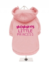 MOMMY'S | LITTLE | PRINCESS - Fleece-Lined Dog Hoodie / Sweatshirt